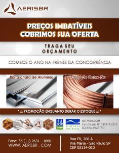 Cabo-de-cobre-nu e barra de aluminio Vieira